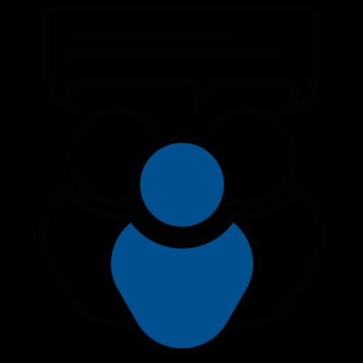 Piktogramm Gruppengespräch - ICM Technologies GmbH